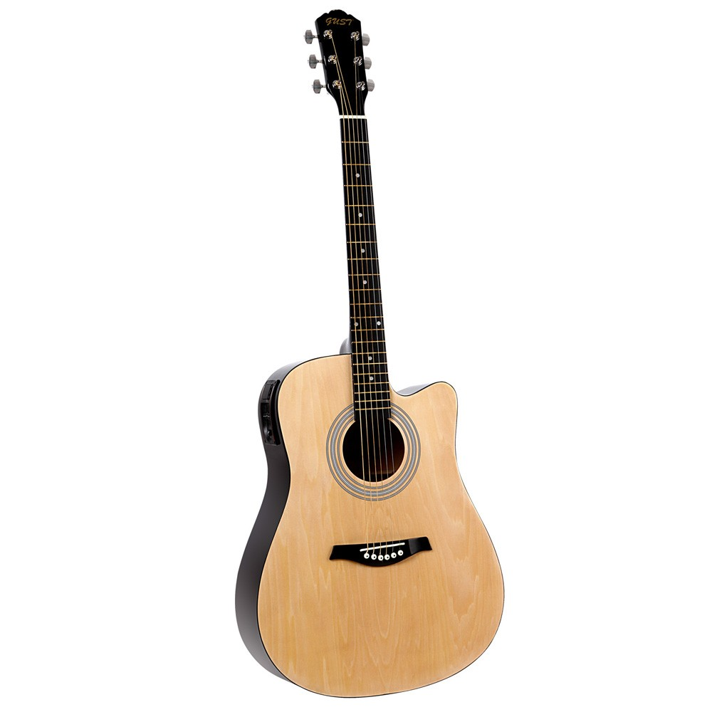 41inch  5- Band EQ Electric Acoustic Guitar Full Size Natural